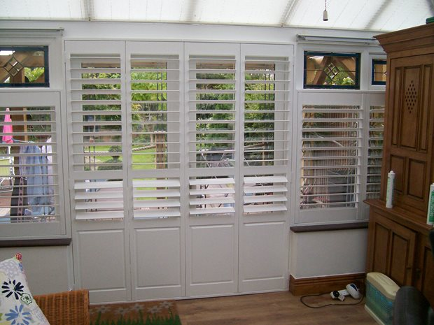 shutters for conservatory doors - The Shutter Store