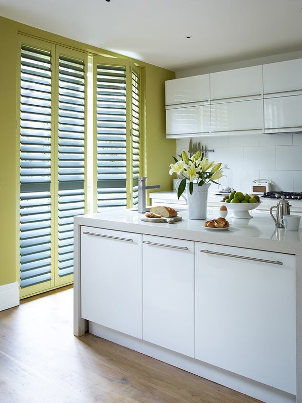 Kitchen shutters by The Shutter Store